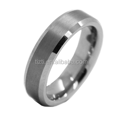 8mm Tungsten Ring Beveled Edge Mens Brushed Tungsten Carbide Ring Cheap Wholesale