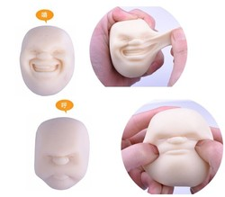 japanese new style face shaped pvc stress toys,lovely face ball squeezing stress toys,Customized soft pvc stress Ball