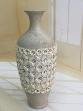 Household frosted floor glassflower vase insert diamond&jewel for decorativon&gift