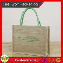 Logo Printed Jute Tote Bag For Promotion