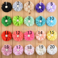 New Shabby Chiffon Flowers For clothes Applique Hair Accessories Hat Decoration Craft Flowers