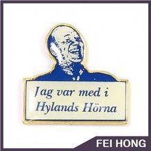 Simple design customized portraits and slogans badge
