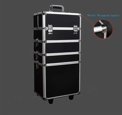 hot selling removable universal wheel aluminum tool box pull rod box