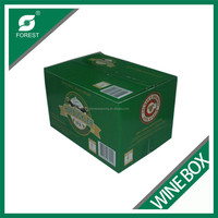 CUSTOM MADE CORRUGATED 24 PACK BEER BOTTLES CARTON BOX FULL COLOR PRINTING WINE PACKAGING BOXES
