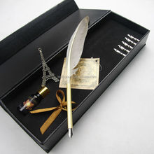Antique trending feather dip pen gift for VIP custom