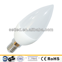 230V 3W 15SMD Plastic Ceramic High Lumen E14 E27 Candle LED Light