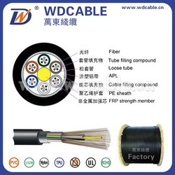 Wan Dong Cable Factory G652D Single Mode Duct Fiber Optic Cable GYTA