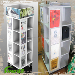 Popular Multilevel Clothes Hanger Display Stand With four Tires