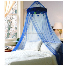 Polyester Children bed mosquito net boys bule mosquito canopy