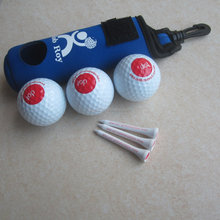 Neoprene golf ball and tee pouch promotional golf gift sets