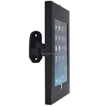 For 10-14 inches removable and angled Black metal tilting laptop wall mounts