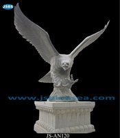 marble flying eagle statue