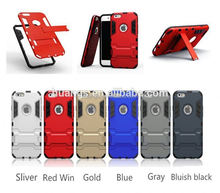 High quality anti-shock TPU+PC Hybrid Combo Case /cover with Stand case for iphone 6 plus wholesale alibaba