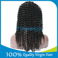 Luvin hair Body Wave Natural wholesale brazilian afro kinky curl full lace wigs