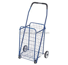 Wholesale steel shopping trolley cart / folding shopping cart with seat