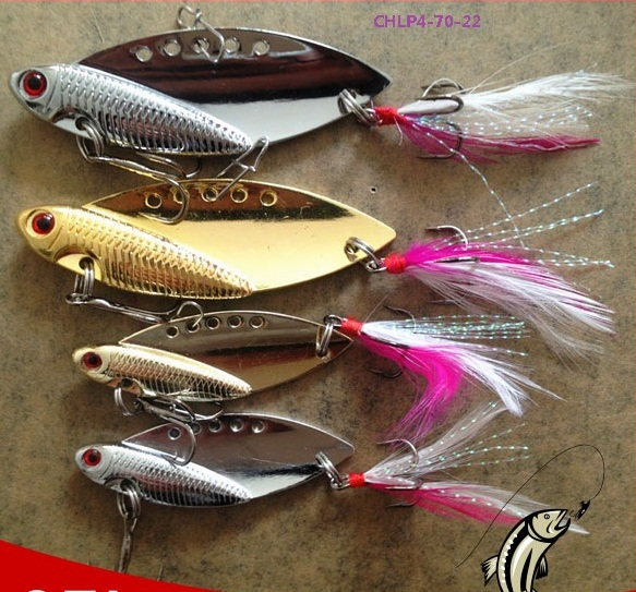 Safty pin fishing minnow lure metal blade iron plate for Tilapia fake fish