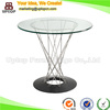 (SP-GT392) Wholesale design custom round glass top coffee table