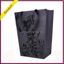 Dongguan black rose paper bag shopping bag luxury gift bag