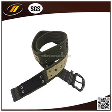Fashion cotton canvas belt with pin buckle