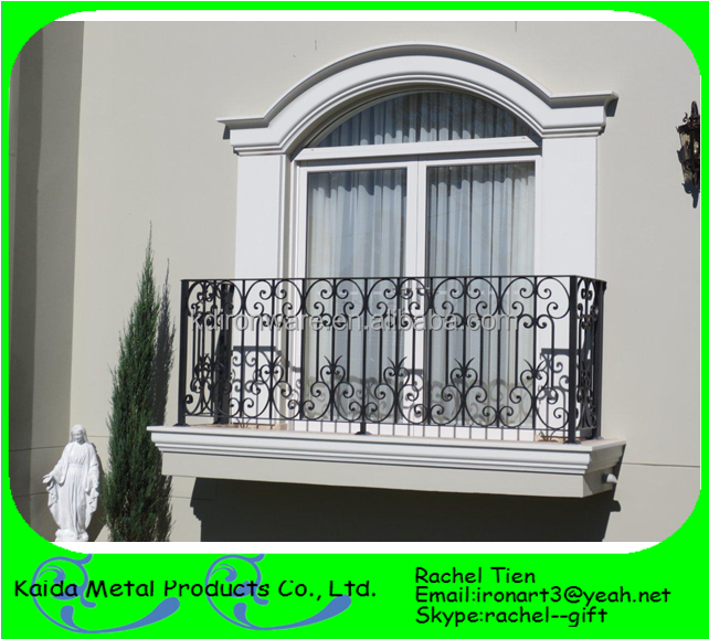 Wrought iron window balcony grill design buy simple iron for Iron window design house