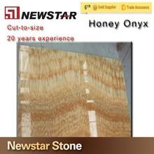 Luxury Decorative Yellow onyx Marble Tiles Prices