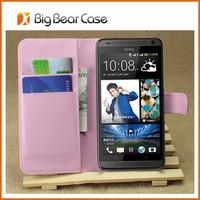 colorful leather cover phone case for htc 700