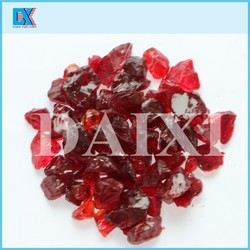 Decor red glass mulch crystals