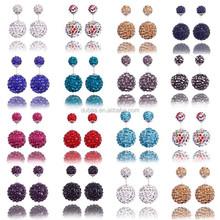 Christmas Wedding New Big Double Pearl Earrings/Double Faced Dual Stud Earrings/Ball Double Pearl Earring Fashion Jewelry
