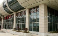 Aluminium Spider Point Supported Structural Glass Curtain Wal