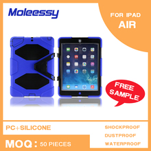 Factory price silicone+pc shell cover case for ipad air/ipad 5