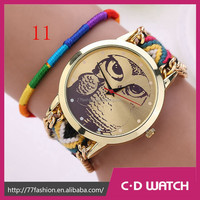 New Casual Brand Handmade Braided Wristwatch Cartoon Electronics Gift Watch Suppliers China XR908