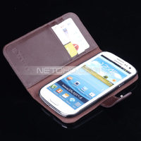 SSS3003 Wallet Leather Case for Galaxy S3 Brown