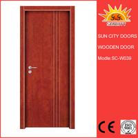 SC-W039 Classic interior cheap bedroom wooden door
