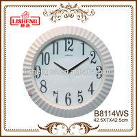 Office branded plain wall clocks B8114WS
