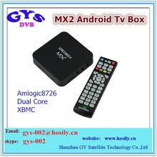 amlogic 8726 mx/mx2 tv box a9 dual core android smart tv box escrow payment accept