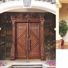 natural antique exterior wood door with luxury villa and hotel