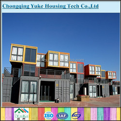prefabricated container hotel rooms by shipping container