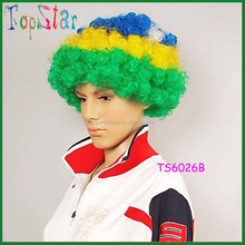 Hot Sell Classics Party and Event Accessories Supplier Wholesale Football Fan Cheap Wig
