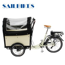 motorized cargo trike for family