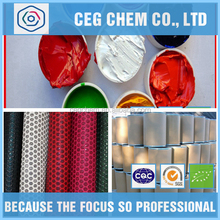 Synthetic leather coloring or embossing application printed color inks