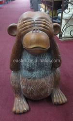 Home & garden ornament fiberglass clay monkey statue