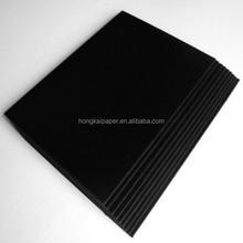 Good stiffness black cardboard/black paper board with factory price