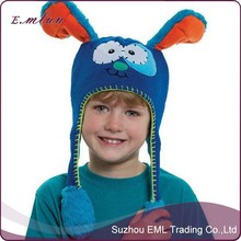 Cute design child knitted inflatable balloon hat