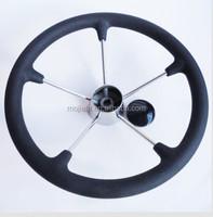 5 Spoke With PU Foam 15.5 inch Stainless Steel Boat sport steering wheel