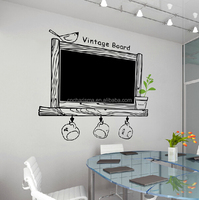 Self adhesive Erasable removable vinly PVC chalkboard decal wall stickers