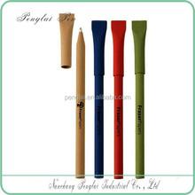 Custom artwork logo ad eco-friendly kraft paper pen