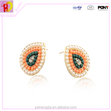 2015 imitation pearls transparent candy small artificial diamond earring Multi bright color pearl earrings.beaded earrings