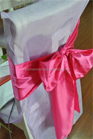 popular satin turquoise chair sash for banquet