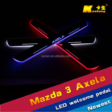 LED stainless Auto Accessories /car welcome pedal sill plate/ scuff plate/LED Door sill for Mazda 3 Axela 2014-2015
