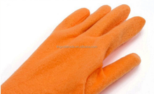 cotten lined Latex Household Gloves Yellow Color